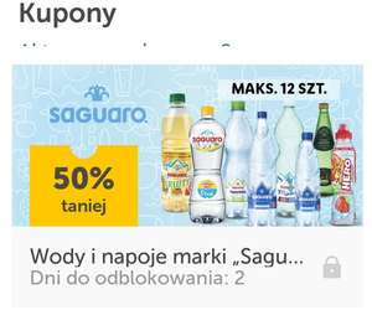 LIDL wody i napoje marki Saguaro 50% taniej max 12 sztuk