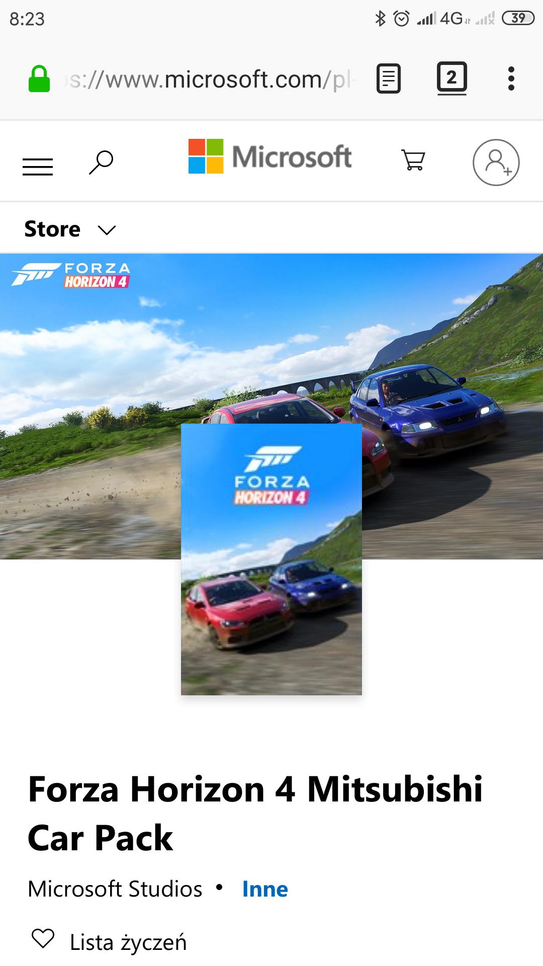 Forza Horizon 4 Mitsubishi Car Pack ( za darmo)