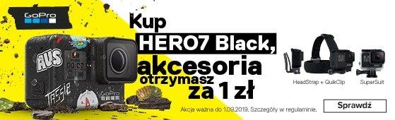Go Pro HERO7 Black z akcesoriami za 1590 PLN