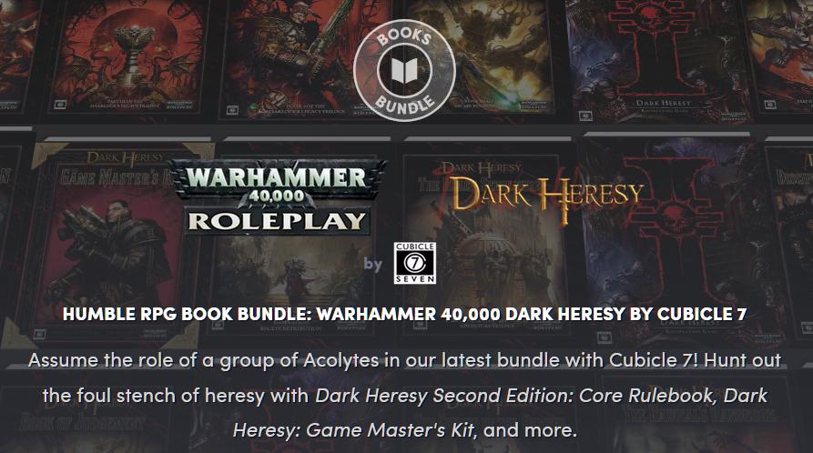 Humble RPG Book Bundle: Warhammer 40,000 Dark Heresy