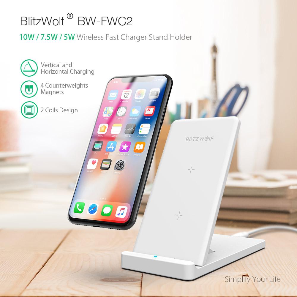Ładowarka bezprzedowa BlitzWolf® BW-FWC2 5W 7.5W 10W -8USD  [43.3zł]