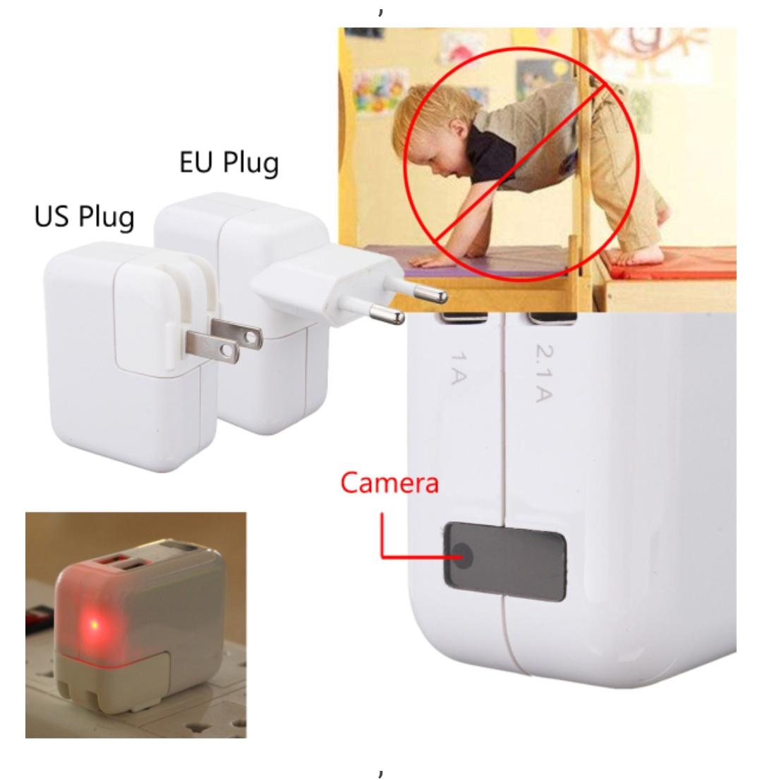 Ładowarka USB z ukrytą kamerą FullHD