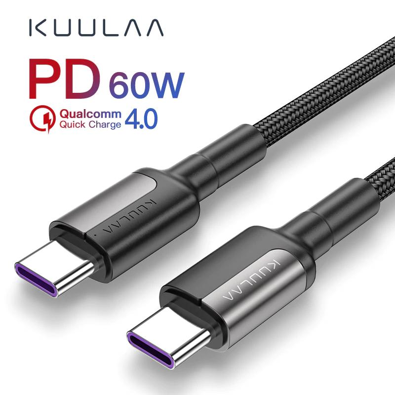 Kabel KUULAA USB-C USB-C 60W 1m za 0,99$ ~3,94zł