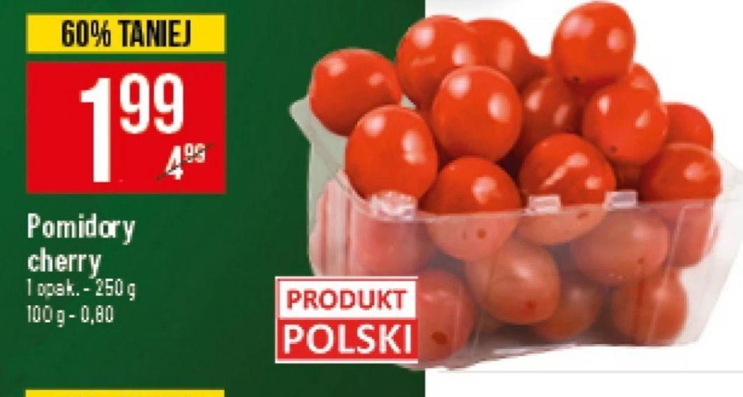 Pomidory Cherry 1.99zł/250g opakowanie  POLO Market