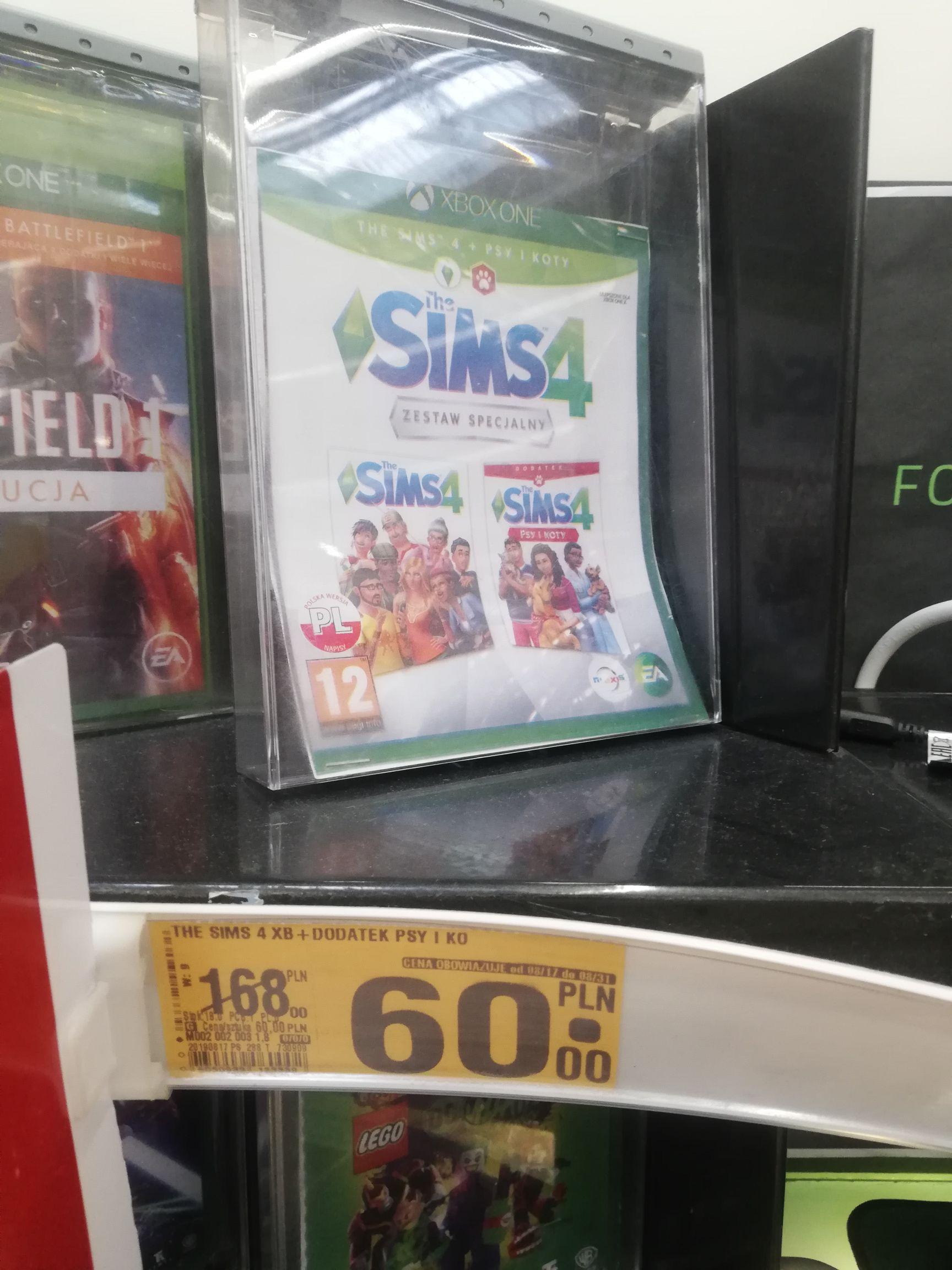 Gra Sims 4 z dodatkiem psy i koty (wersja pudełkowa) na xbox i ps4 Auchan Wrocław Korona