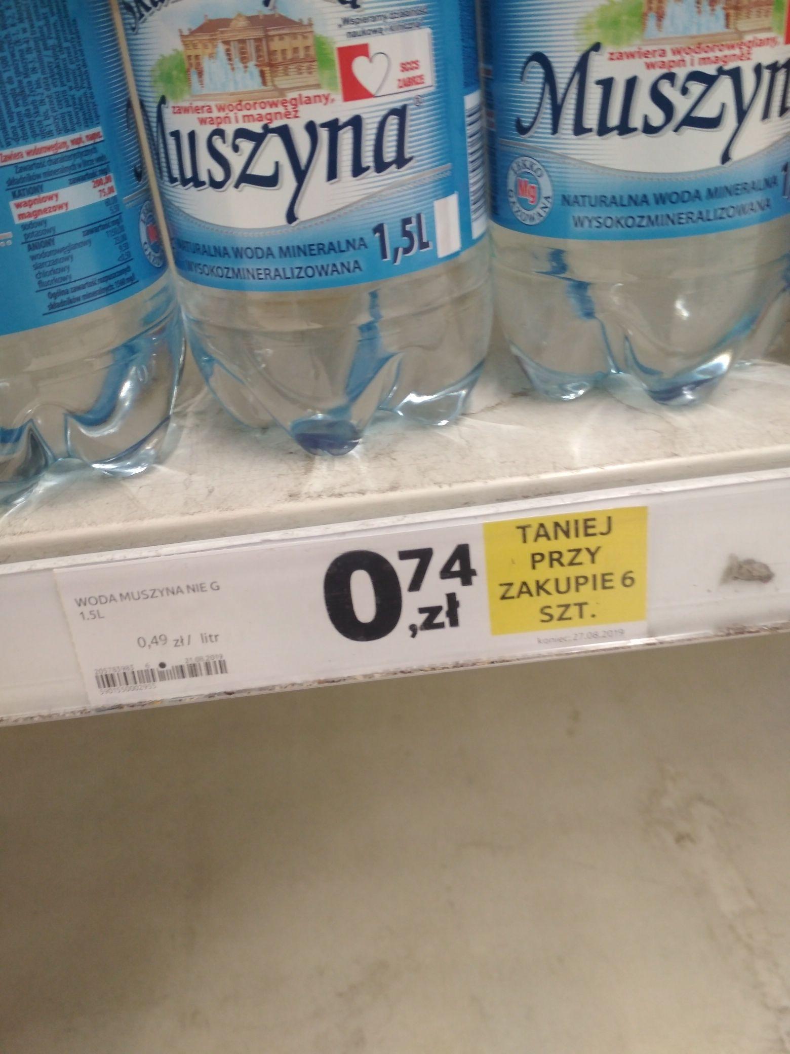 Woda Muszyna Gazowana 1,5l za 0,34 gr i inne w super cenach! @Tesco