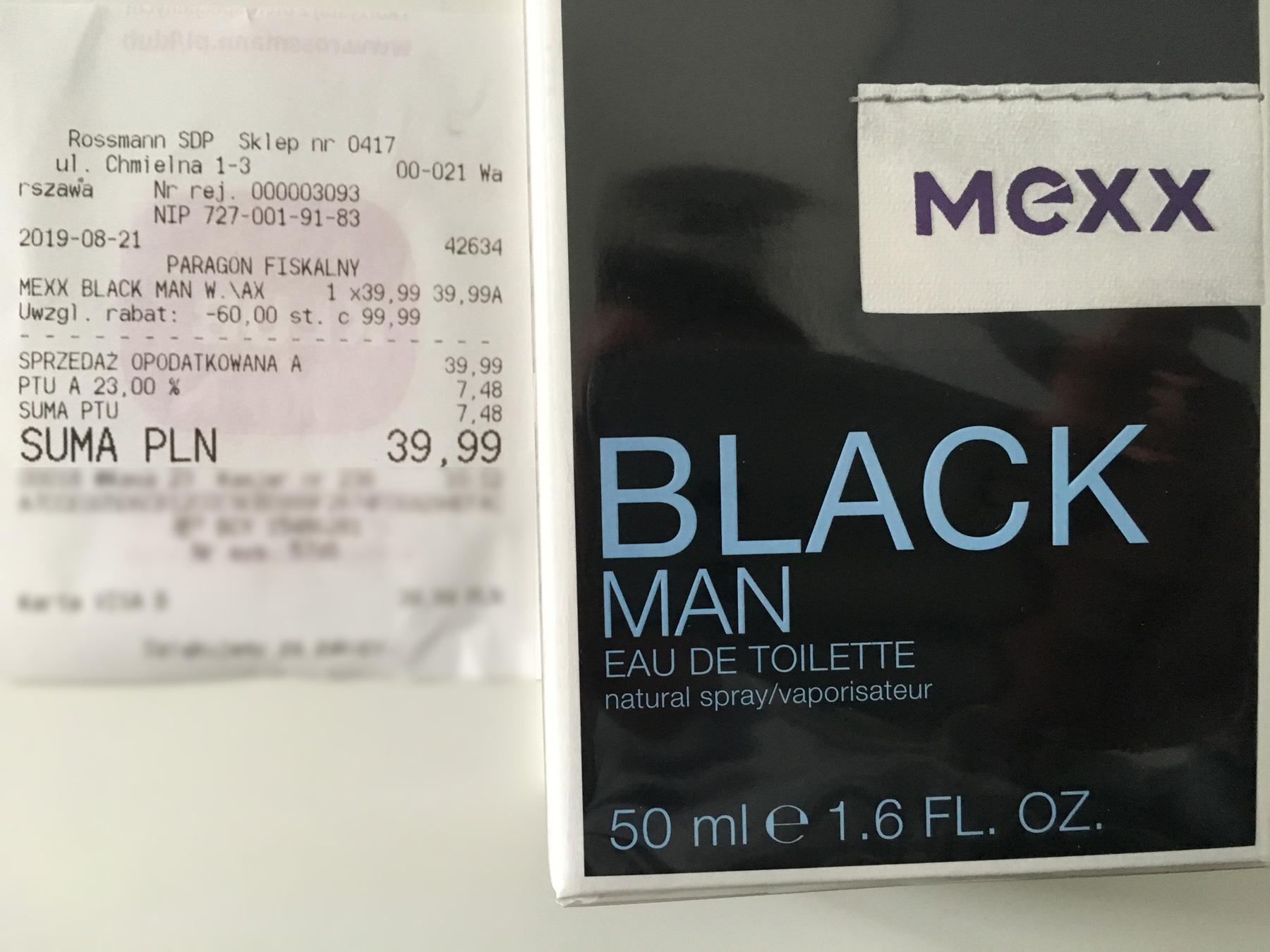 Woda toaletowa Mexx Black Man 50ml w Rossmanie