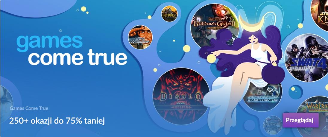 Promocja na GOG.com Games Come True, ponad 250 gier w promocji do -75%