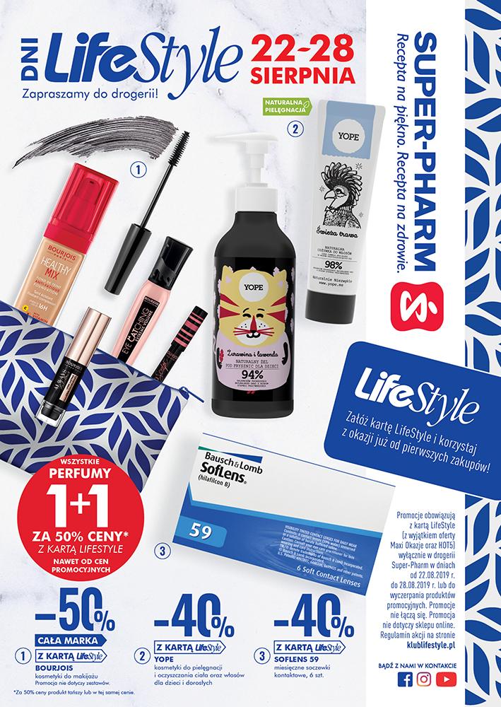 Dni Lifestyle 22.08-28.08 promocja 40%, 50% oraz 1+1 @ Super-Pharm