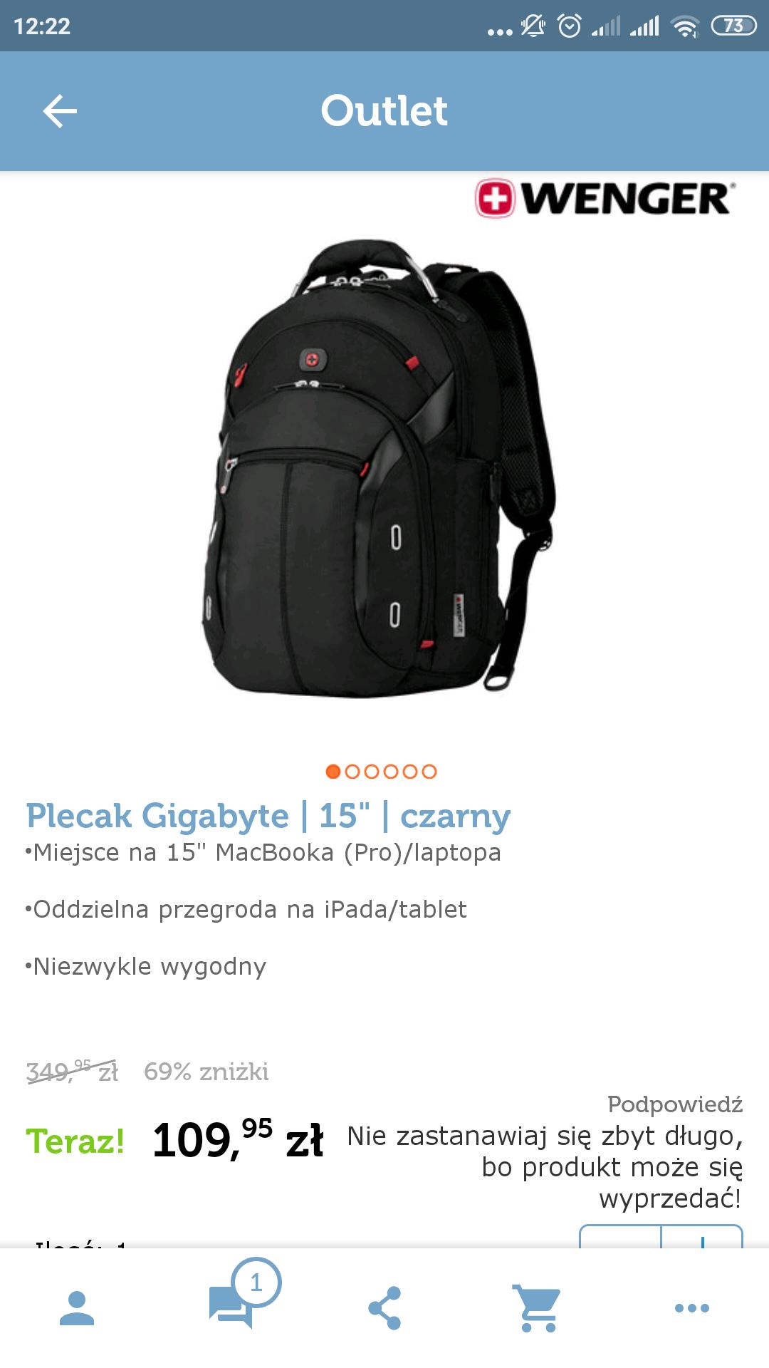 Plecak Wenger Gigabyte 110zl +przesyłka