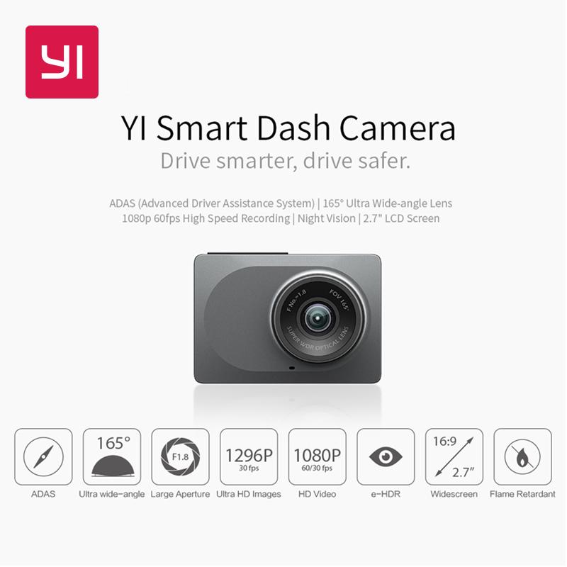 Wideorejestrator samochodowy Yi Smart Dash  (wysyłka z Hiszpanii, możliwe ~137,20zł) @ AliExpress