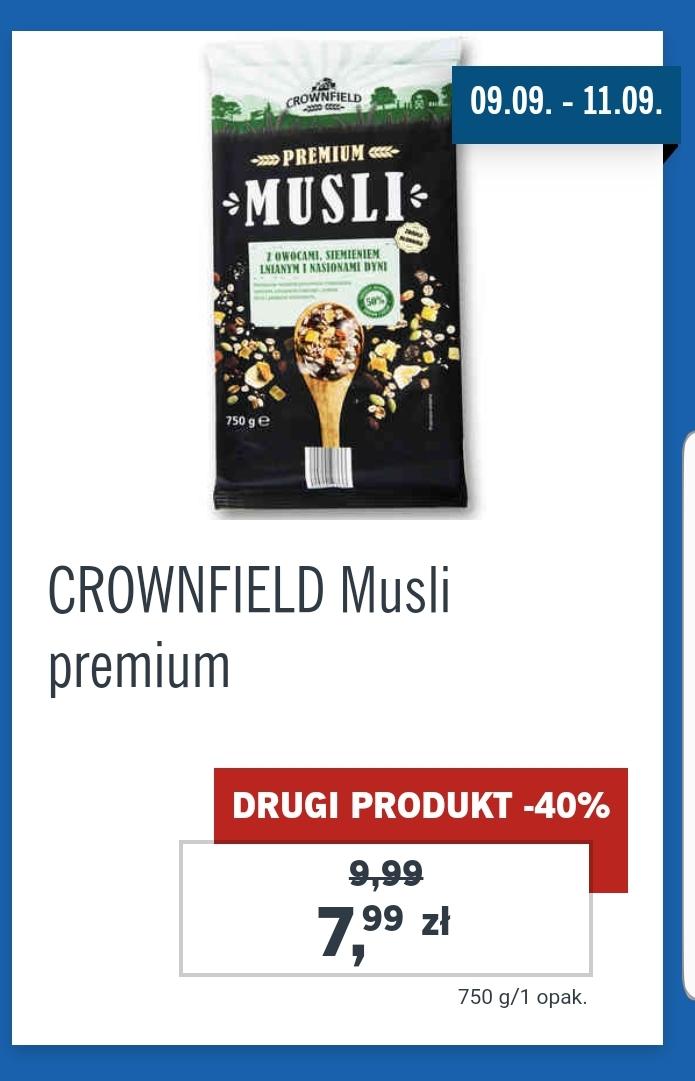 [Lidl] CROWNFIELD Musli premium 7,99(-20%)