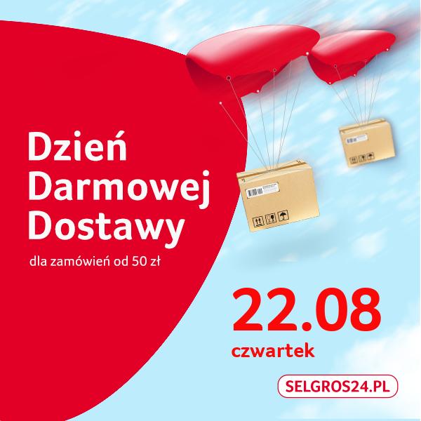 Dzień darmowej dostawy na Selgros24 22 sierpnia, od 50 zł
