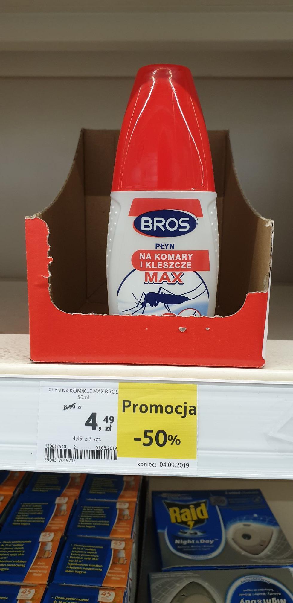 Bros Płyn Na Komary I Kleszcze Max 50ml 30% DEET Tesco