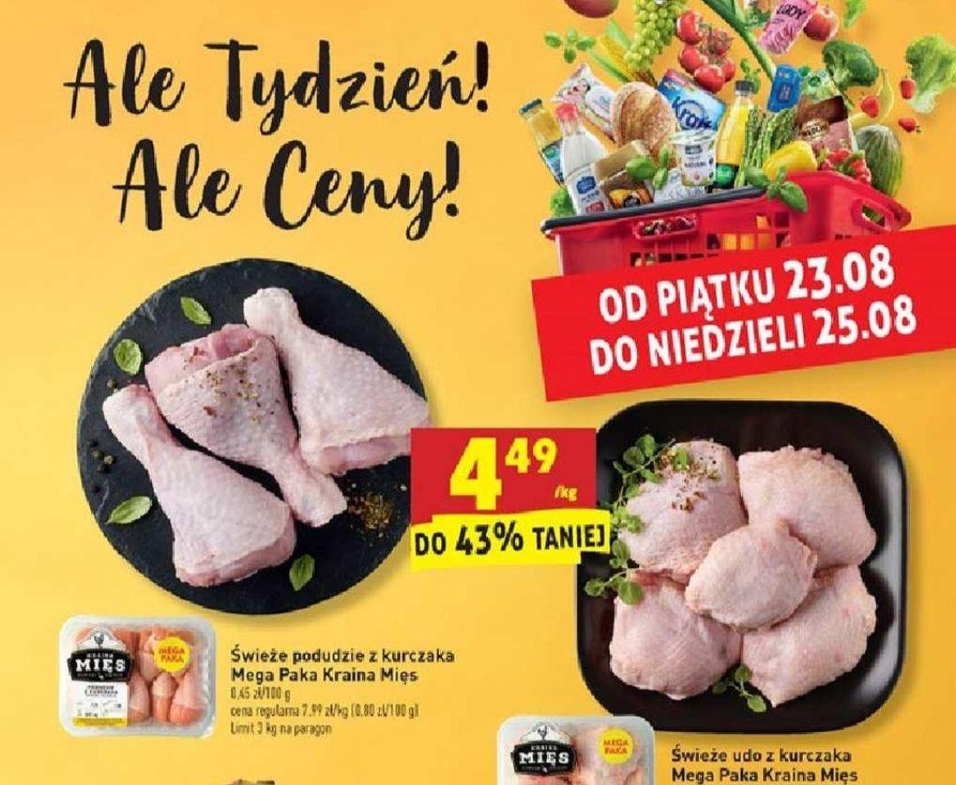 Udo lub podudzie z kurczaka 4,49 zł/kg - Biedronka