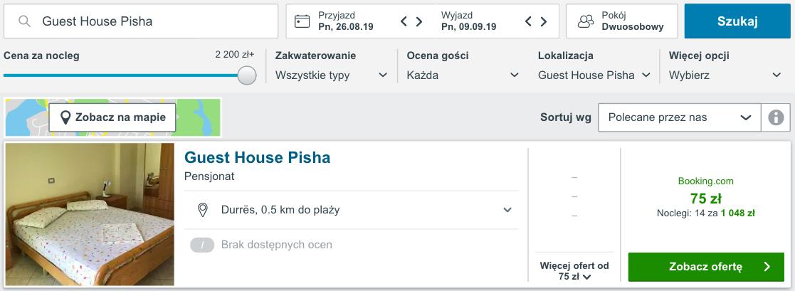 Wczasy na własną rękę Lato w Albanii za 938 PLN. Loty z dwóch miast oraz 14 noclegów Wylot 26 sierpnia