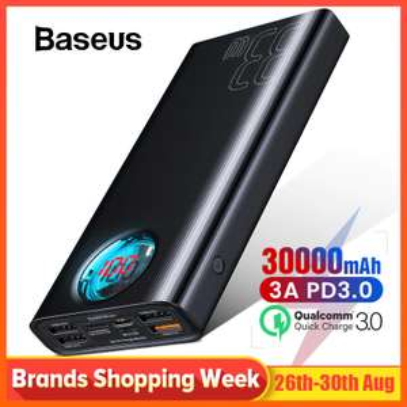 Wieloportowy powerbank Baseus 30000mAh USB-C PD 3.0