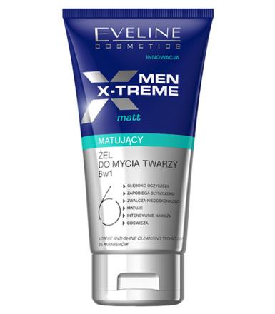 Żel matujący do mycia twarzy dla mężczyzn EVELINE Men X-Treme 6w1 150ml, @Hebe, odbiór w sklepie 0 zł, MWZ online 15zł