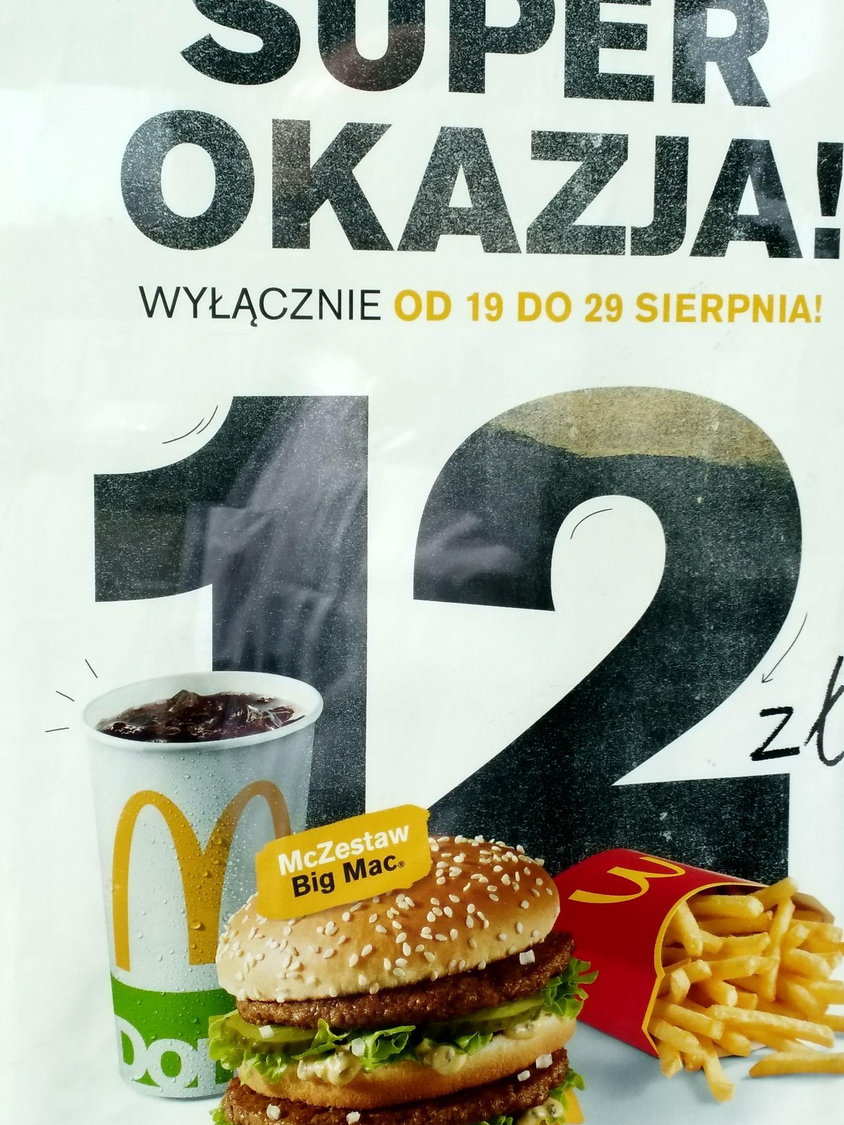 McDonald's Zestaw Big Mac za 12zł Lublin Spółdzielczości Pracy