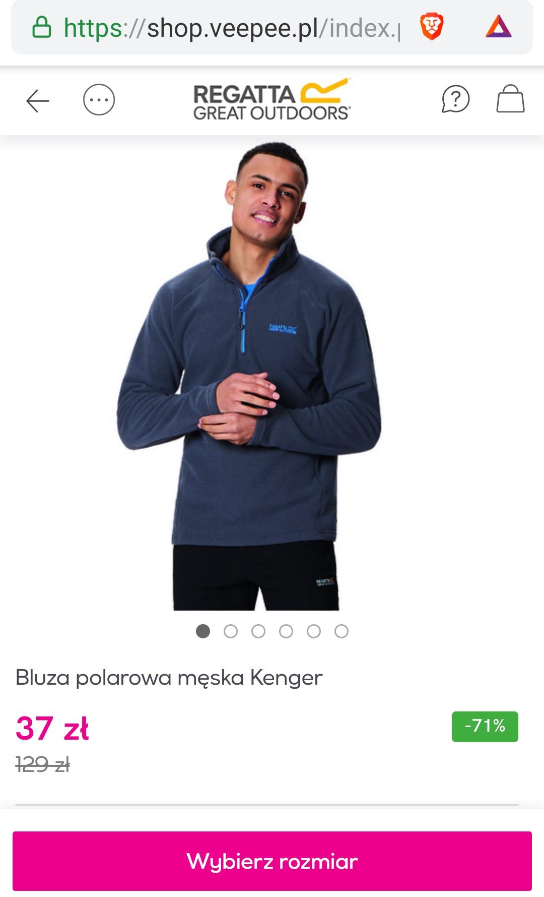 Bluza polarowa męska Kenger