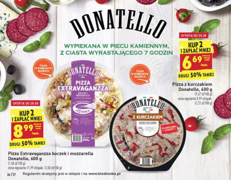 Pizza Donatello 400 G cena przy zakupie 2 sztuk @Bierdonka