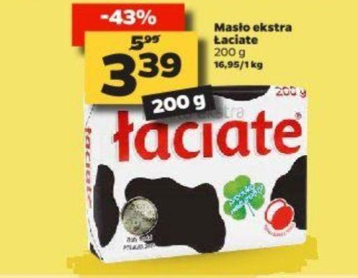 Masło ekstra Łaciate 3,39 zł/szt. Netto