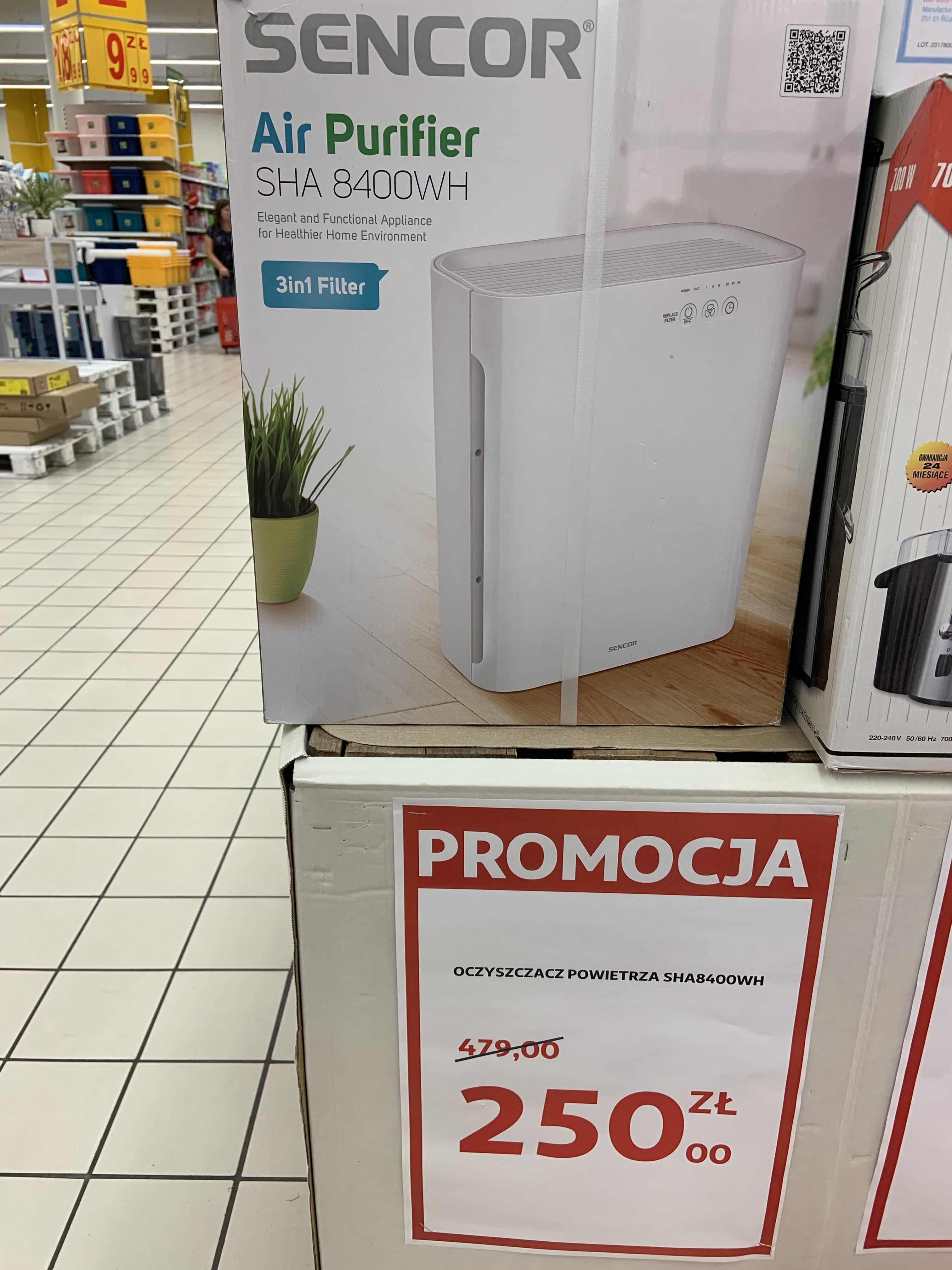 Oczyszczacz powietrza Sencor Air Purifier SHA 8400WH - Auchan, Pasaż Łódzki