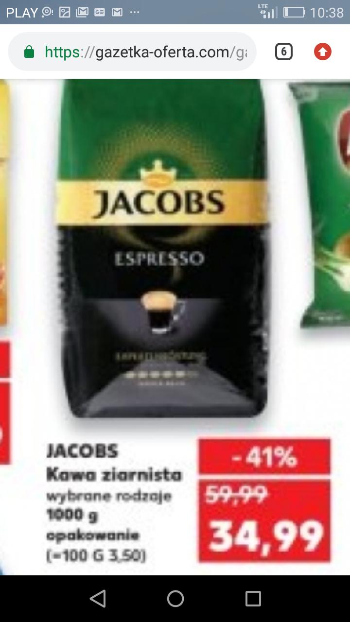 1kg kawy Jacobs (3rodzaje) Kaufland