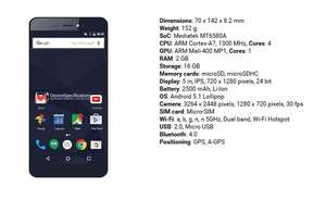 Dobra okazja na budżetowy telefon Bluboo Picasso 2gb/16gb, 4x1.3Ghz