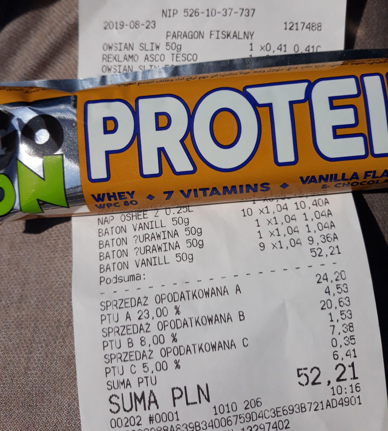 Baton proteinowe GoOn Tesco