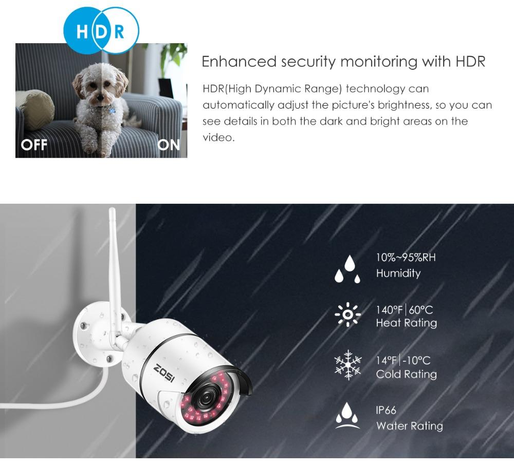 Zewnętrzna kamera IP 1080p ZOSI (wifi, diody IR) - możliwe 89,90zł @ Aliexpress