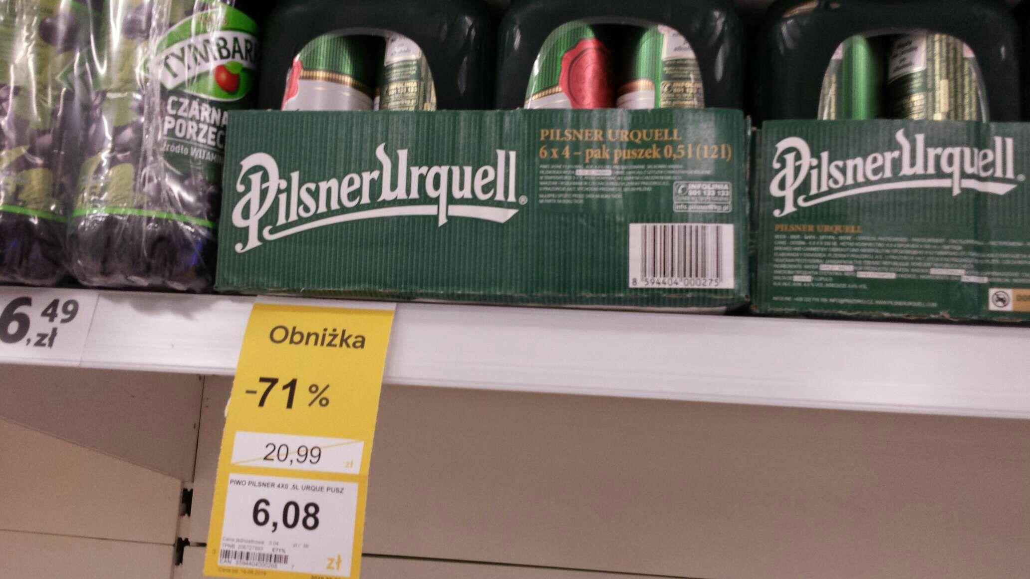 Ponownie piwo 4pak Pilsner Urquel