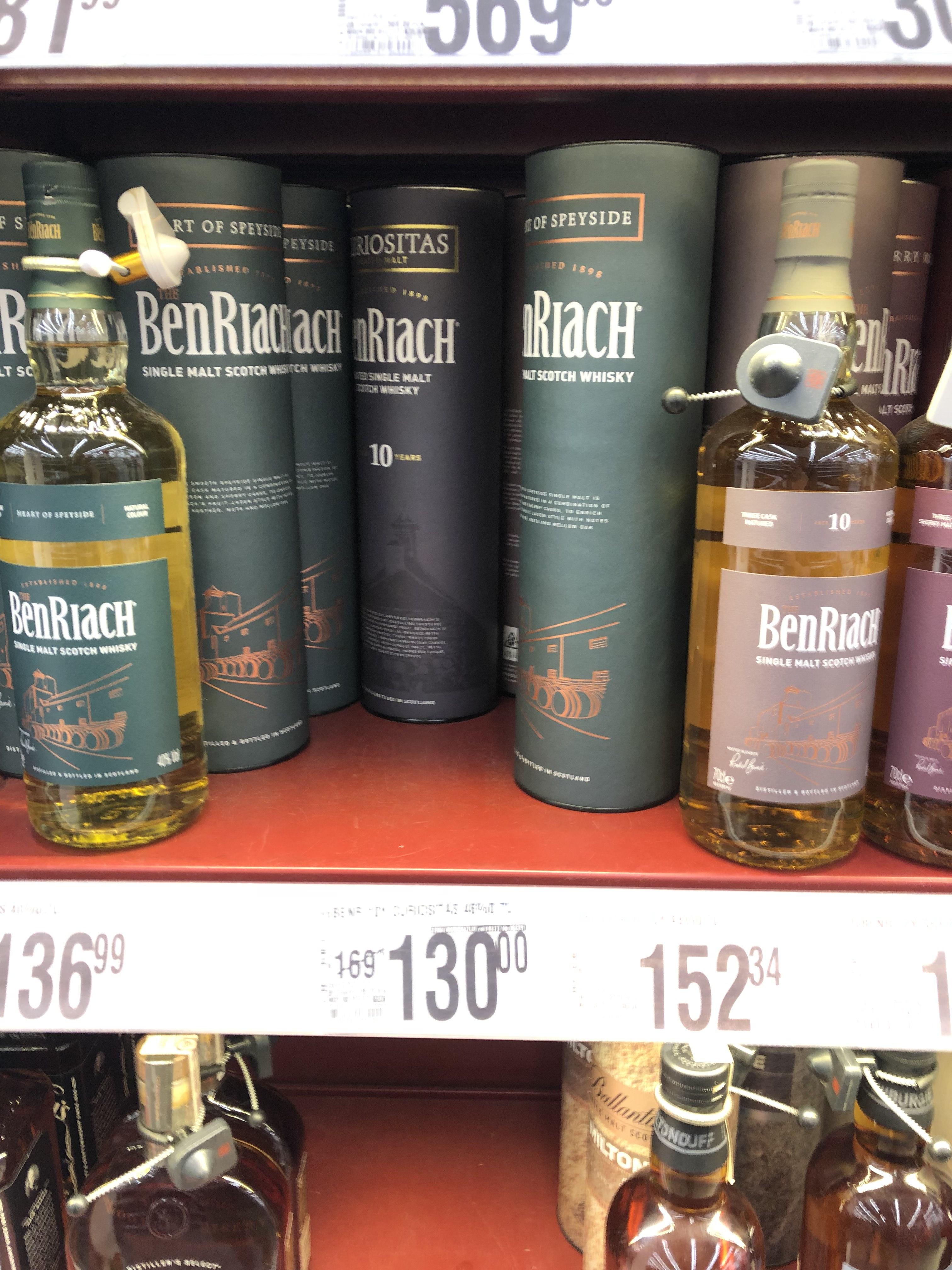 Whisky Benriach 10 curiositas auchan Warszawa
