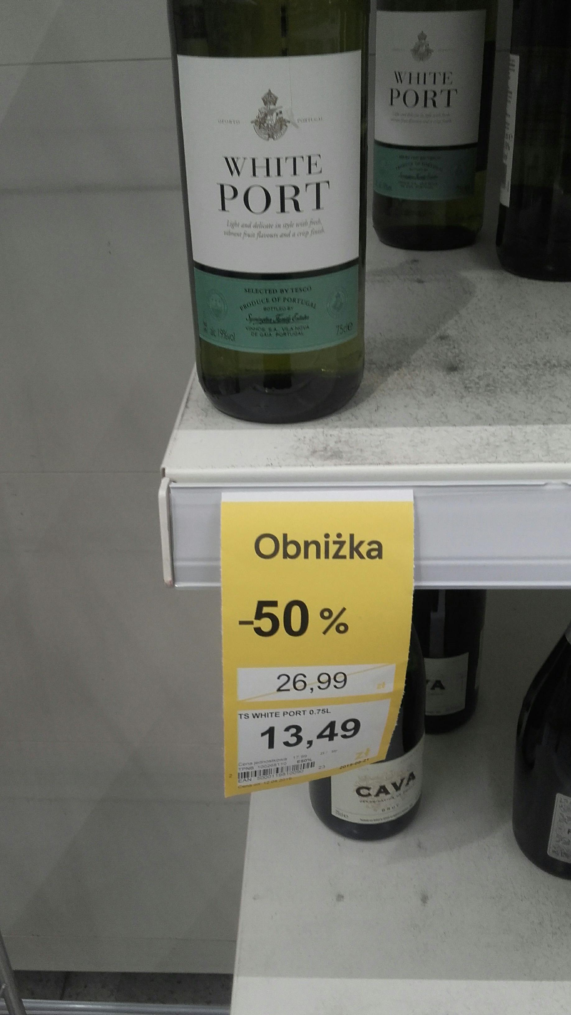 Tesco Wino White Port 19%vol.
