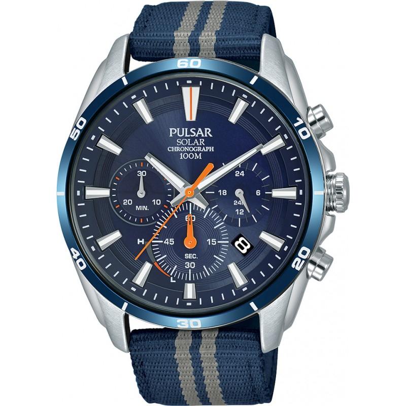 Zegarek PULSAR PZ5089X1 (mechanizm solarny, szkiełko mineralne, wodoszczelność 100m) @ Watches2u