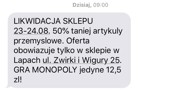 Promocja w biedronce na artykuły przemysłowe - 50% @ Lipy, Żwirki i Wigury