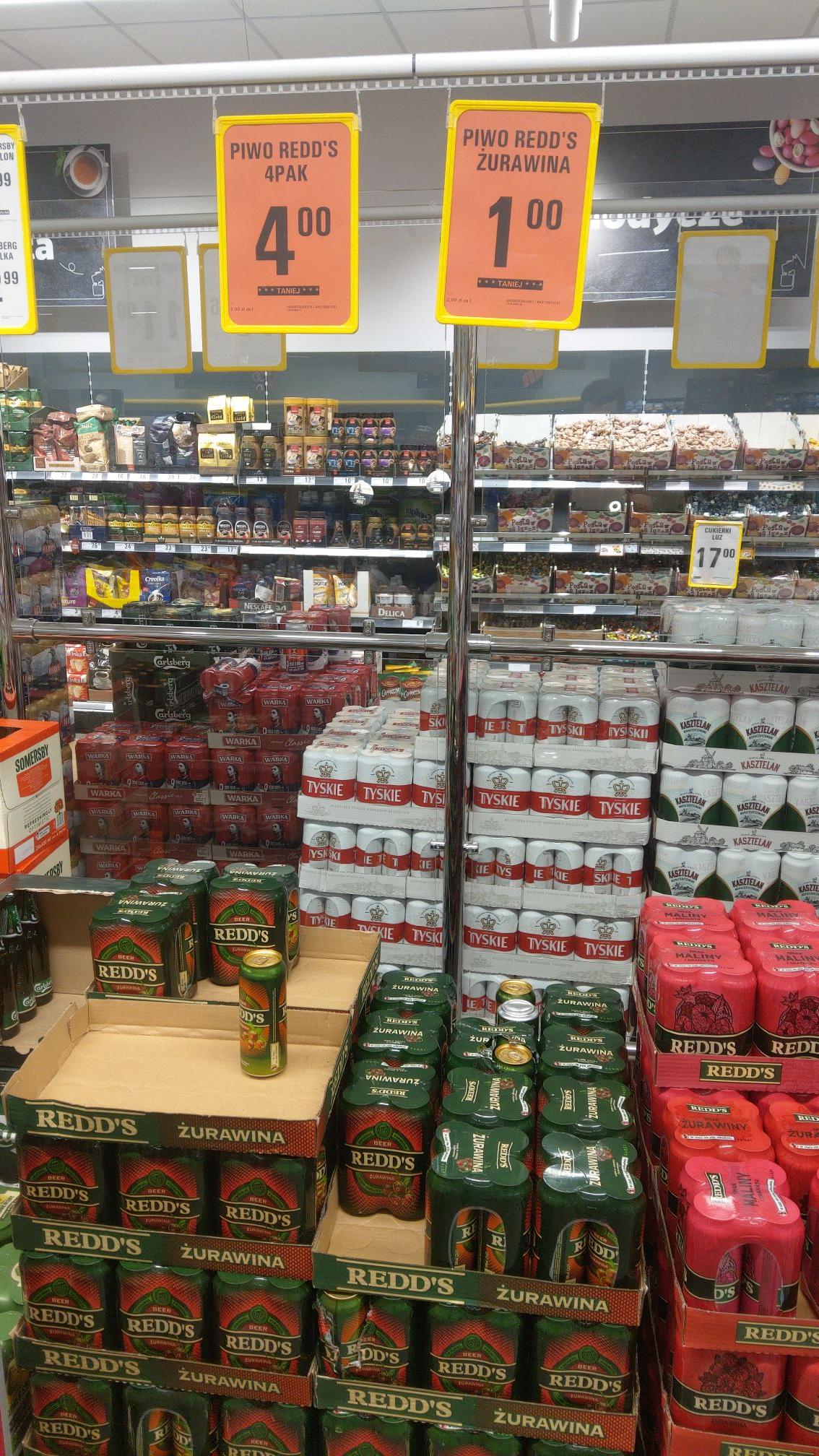 Tanie piwo Redds zurawina - Netto (Strzegom)