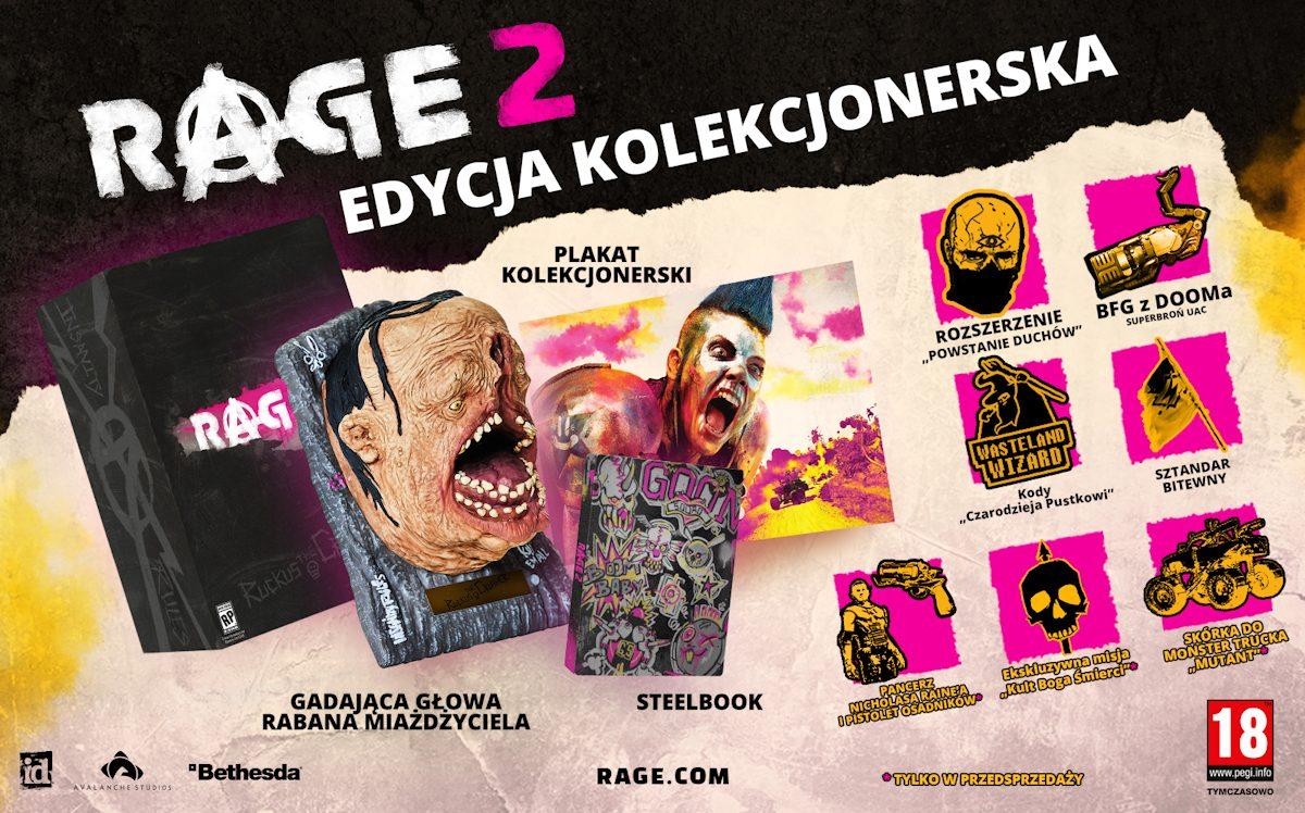 RTVeuroAGD Rage 2 Edycja Kolekcjonerska Playstation 4 PS4 Steelbook Figurka
