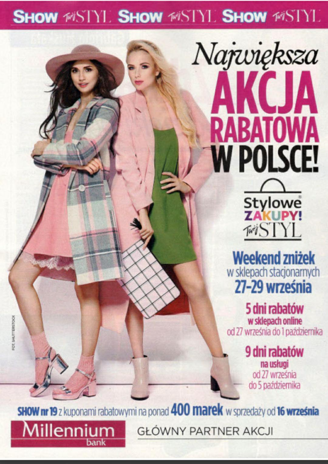weekend zniżek z magazynami: twoj styl i show STYLOWE ZAKUPY w calej polsce-27-29-wrzesnia-2019