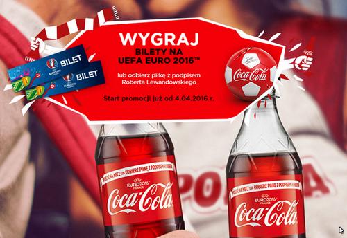 Piłka z podpisem Roberta Lewandowskiego za 33 kody spod korków Coca Cola