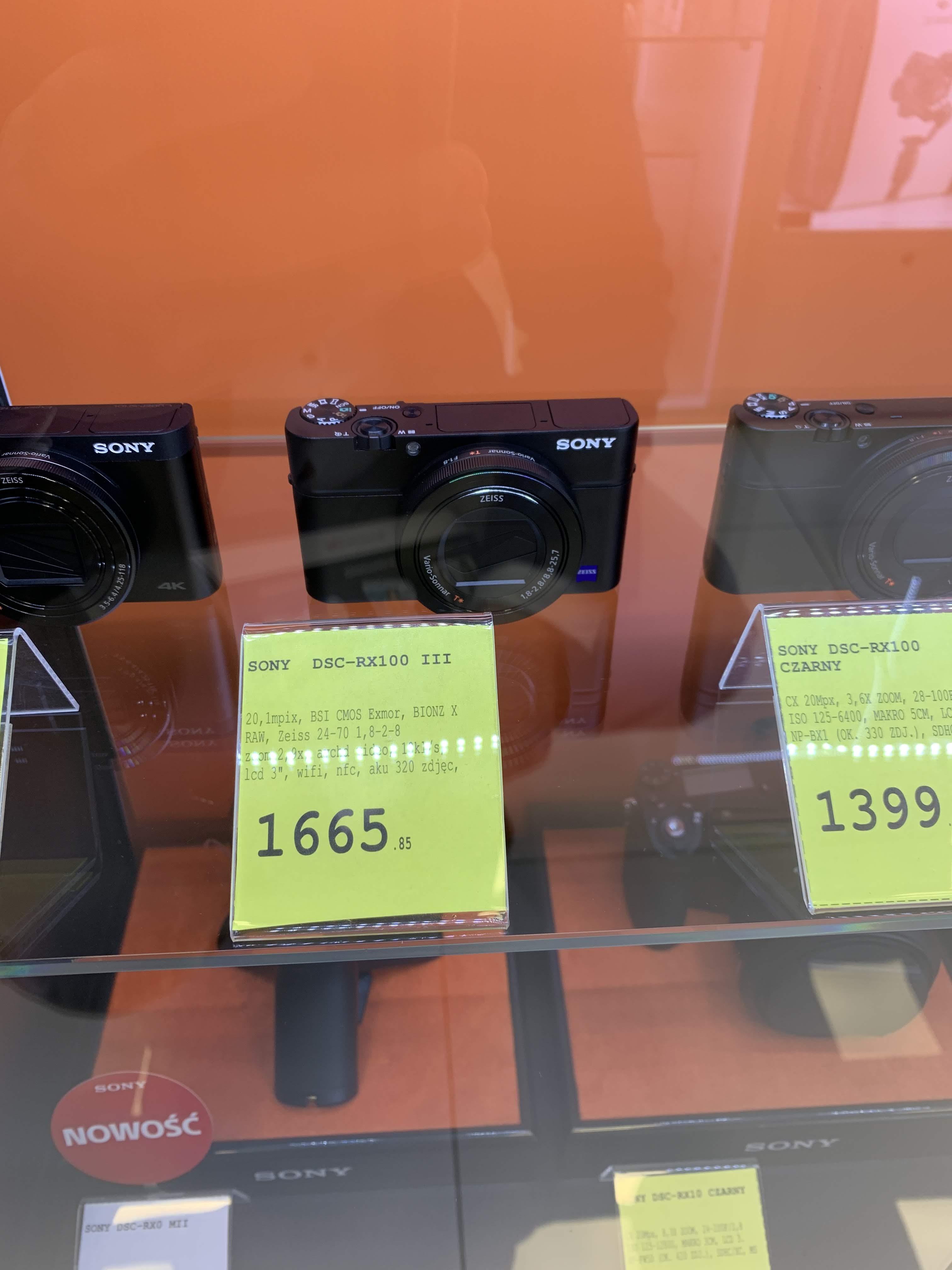 Aparat Sony Cyber-shot RX100 III (lokalnie) AB Foto Galeria Młociny