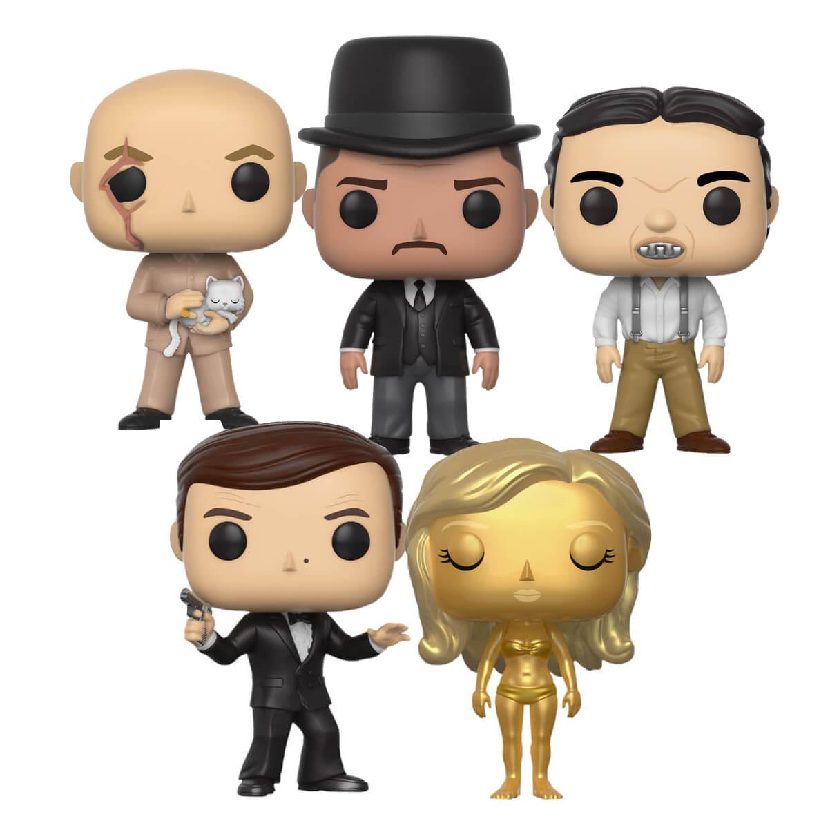 Zestaw 5 figurek POP Funko z filmów James Bond za 62zł, z wysyłką 82zł :)