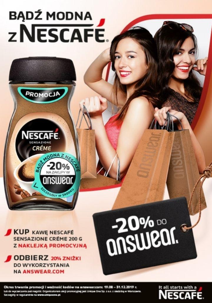 Bądź modna z Nescafe Sensazione Creme: -20% na zakupy w answear.com