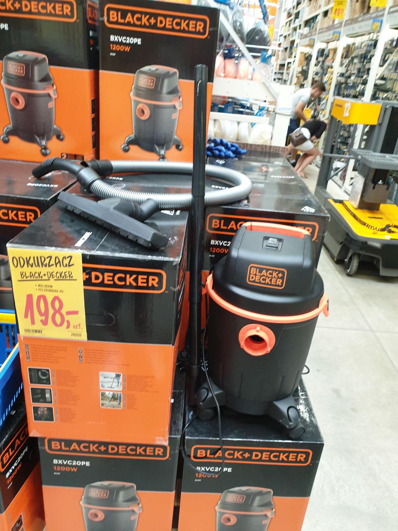 Odkurzacz Black & Decker 1200W 20L pojemności Castorama Swarzędz