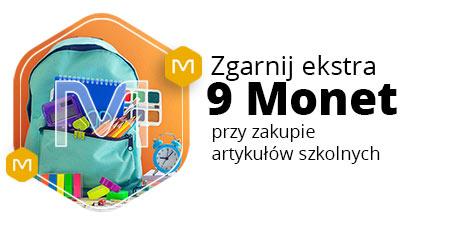9 Monet przy zakupie artykułów szkolnych od 100 zł