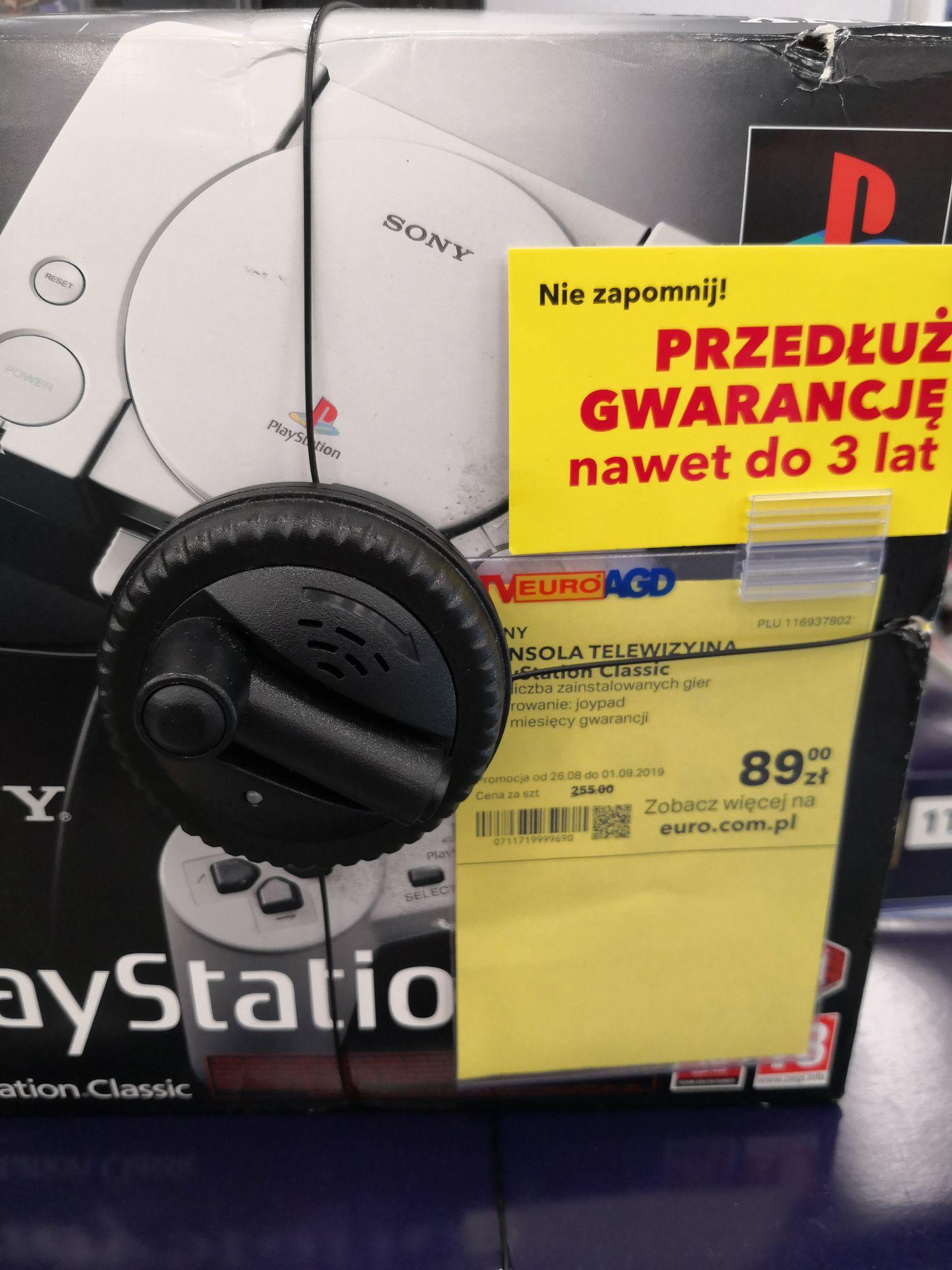 Playstation Classic Euro RTV AGD,  możliwość zamówienia oraz sztuki na sklepach