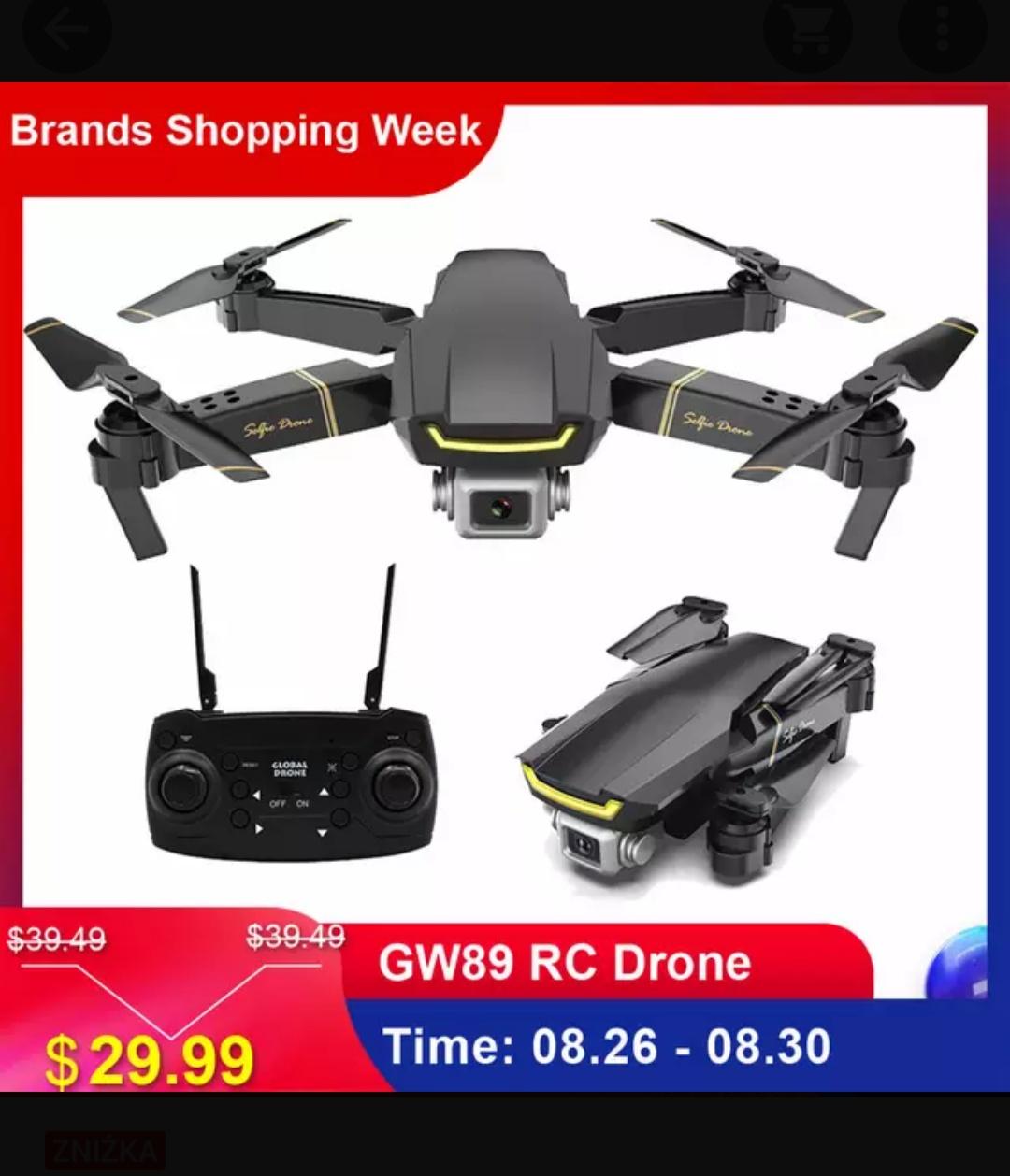 Dron dla początkujących GW89 z kamerą HD