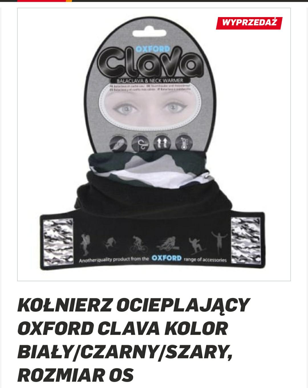Kołnierz ocieplający OXFORD CLAVA kolor biały/czarny/szary, rozmiar OS
