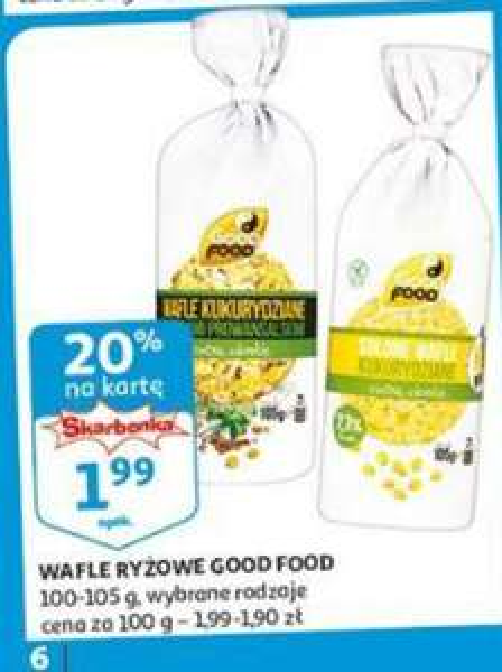 Auchan wafle kukurydziane Good Food 1+1 za grosz