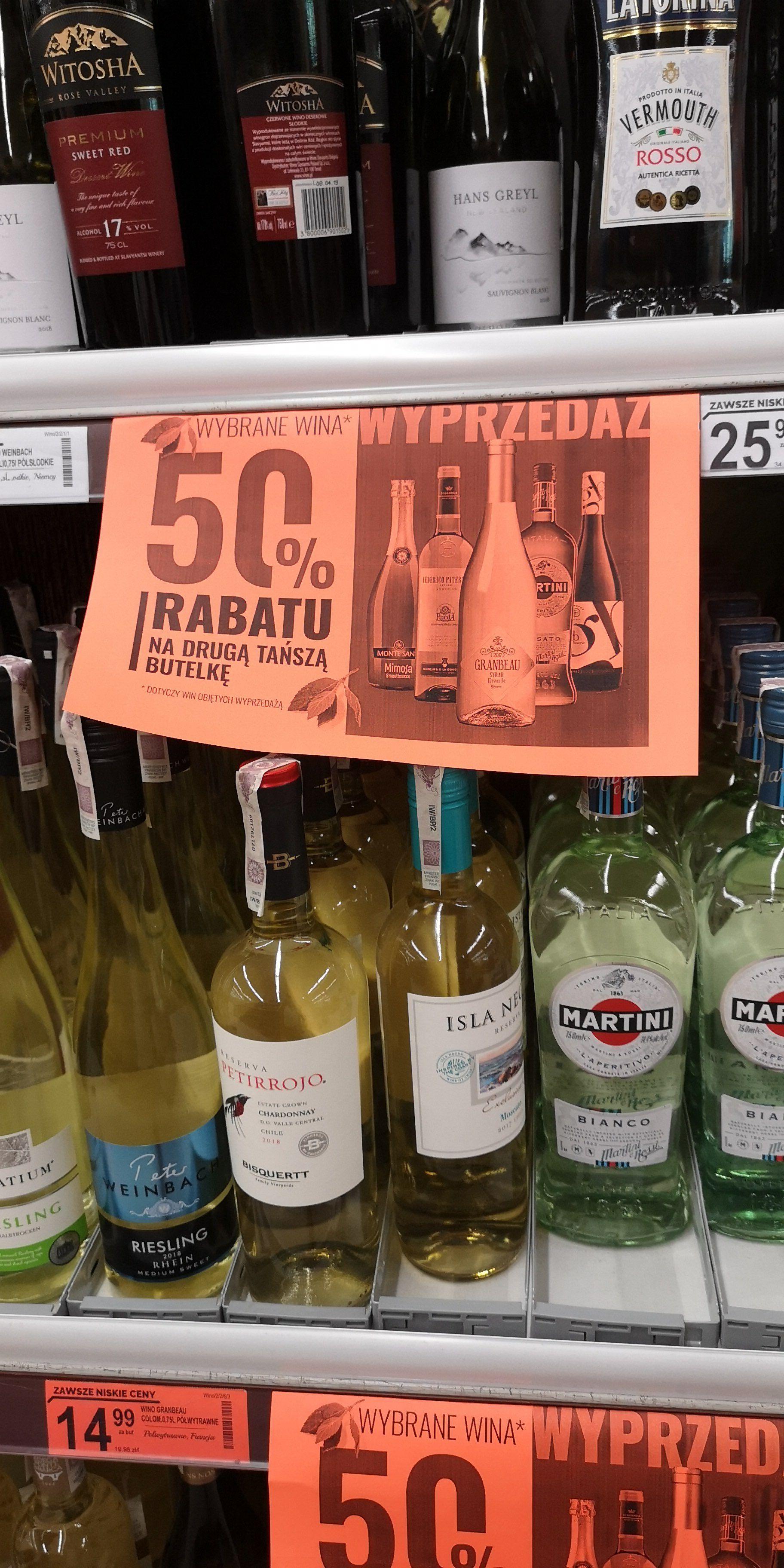 2 butelka tańszego wina za 50% w Biedronce